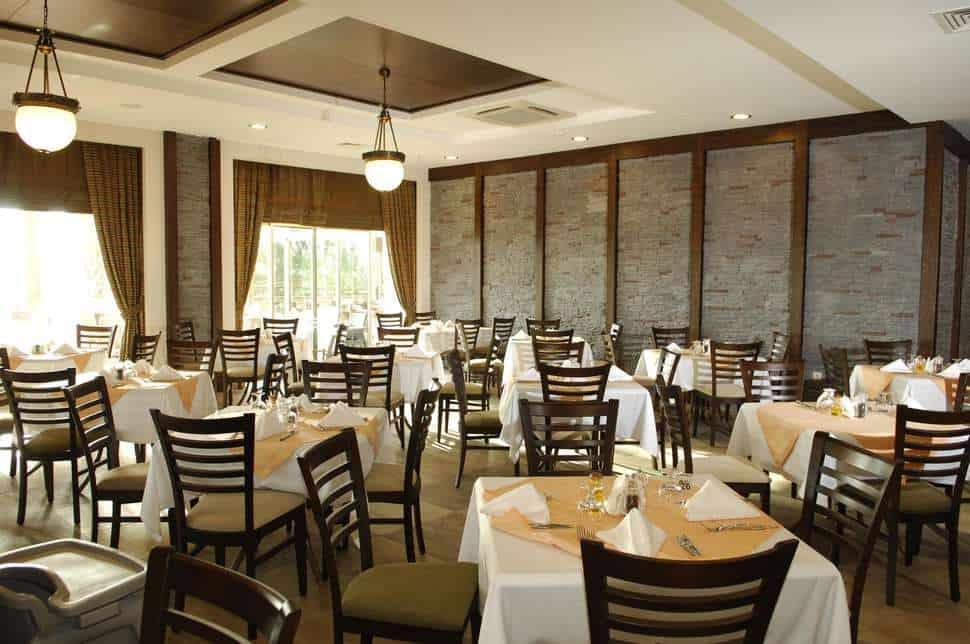Restaurant van Sunis Kumkoy Beach Resort & Spa in Side, Turkse Rivièra, Turkije