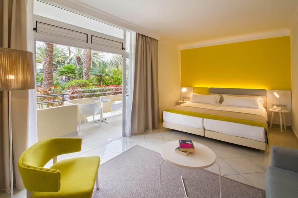 Slaapkamer van apppartement van Abora Catarina in Playa del Inglés, Gran Canaria, Spanje