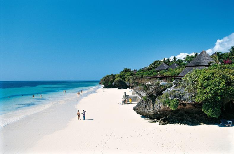 Strand van Leopard Beach Resort & Spa in Diani Beach, Kwale, Kenia