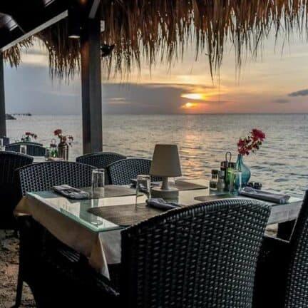 Terras van Plaza Beach Resort Bonaire in Kralendijk, Bonaire, Bonaire