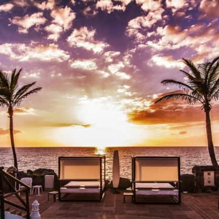Uitzicht van Hotel Jardin Tropical in Costa Adeje, Tenerife, Spanje