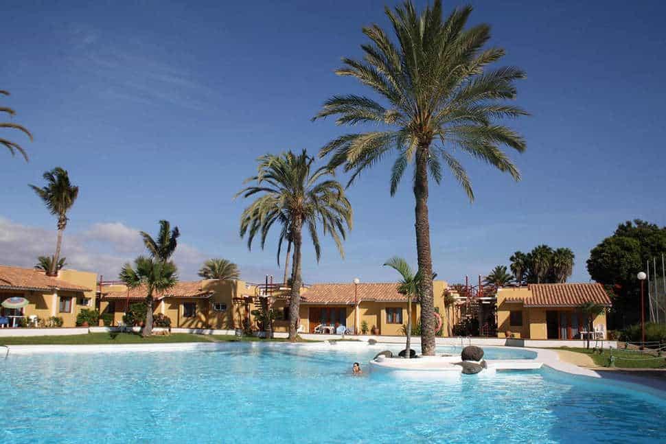 Zwembad van Bungalows Parque Bali in Maspalomas, Gran Canaria, Spanje