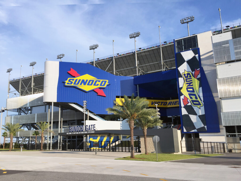 Ingang van Daytona International Speedway in Florida
