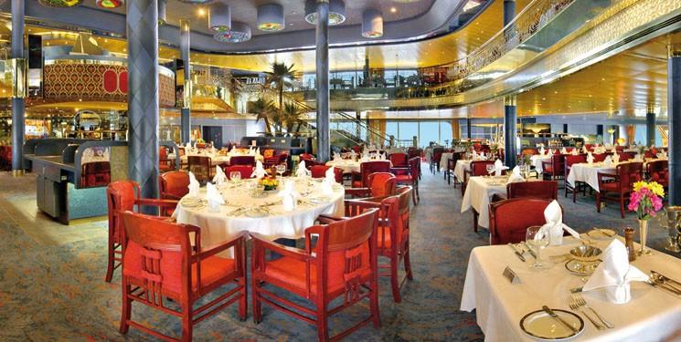 Restaurant van CruiseschipMS Rotterdam