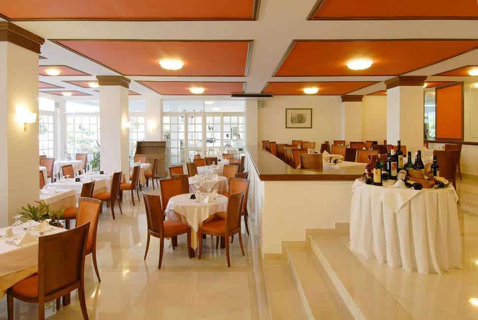 Restaurant van Platanista Hotel in Psalidi, Kos, Griekenland