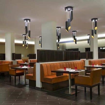 Restaurant van Sol Dunas Resort in Santa Maria, Sal, Kaapverdië