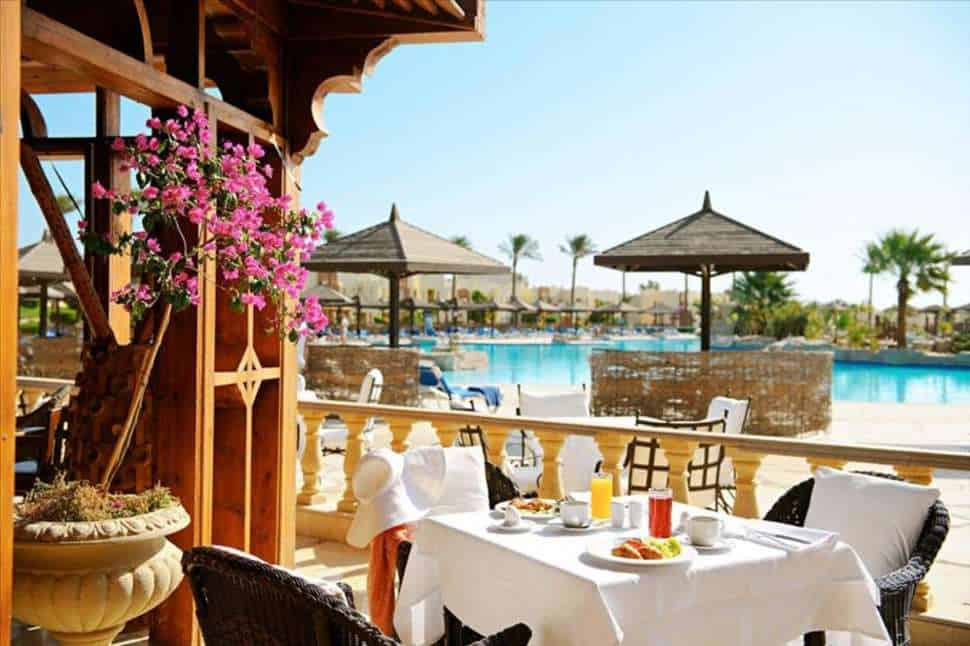 Restaurant van Sunrise Royal Makadi Aqua Resort in Hurghada, Rode Zee, Egypte