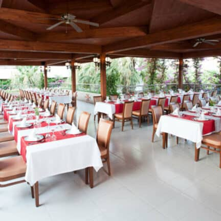 Restaurant van Vonresort Golden Beach in Colakli, Antalya, Turkije