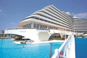 Titanic Beach Resort in Lara Beach, Turkse Rivièra, Turkije