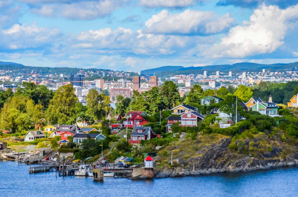 Uitzicht over Oslo, Noorwegen