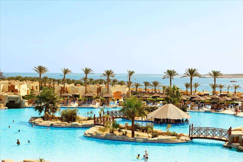 Zwembad van Sunrise Royal Makadi Aqua Resort in Hurghada, Rode Zee, Egypte