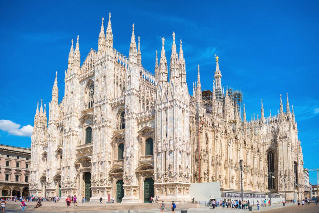 Kathedraal Duomo Santa Maria Nascente in Milaan, Italië