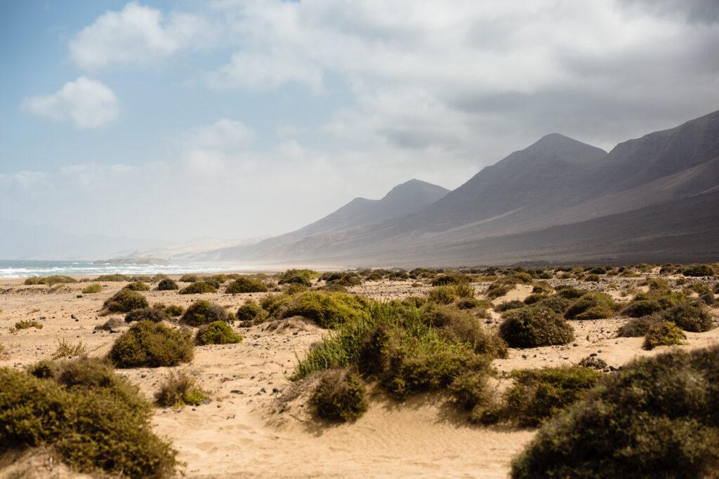 Jandia Schiereiland op Fuerteventura in Spanje