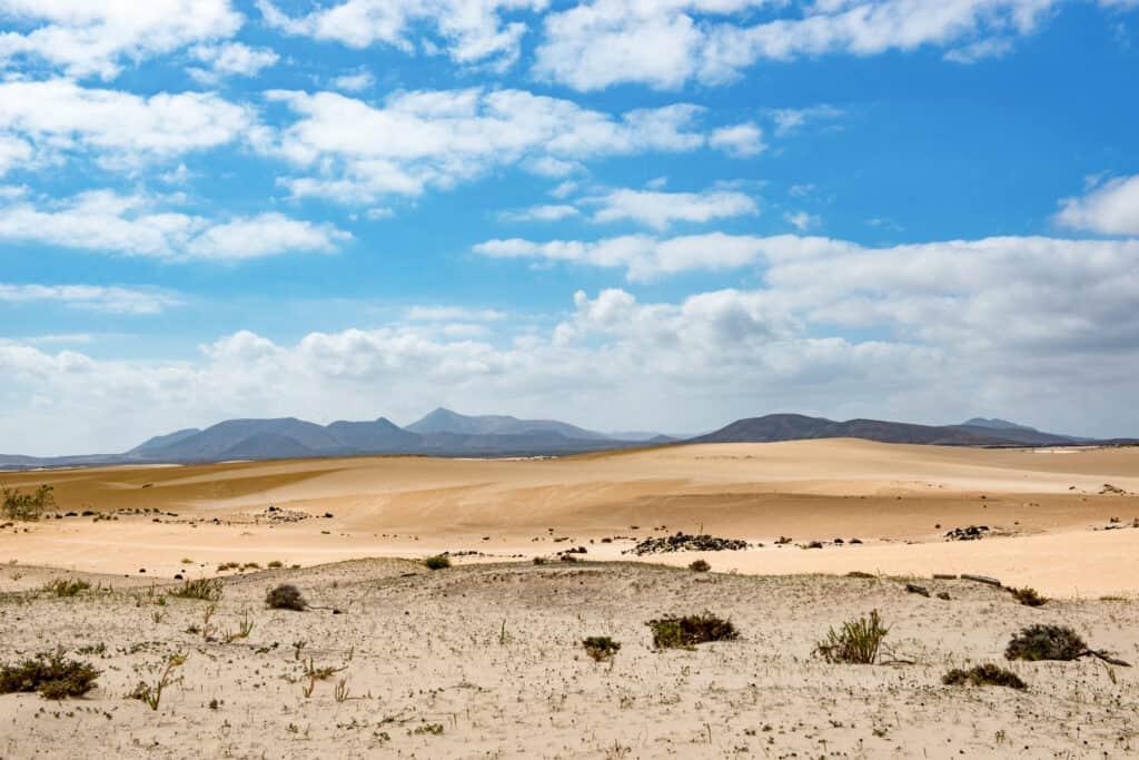 Parque Natural de Corralejo op Fuerteventura
