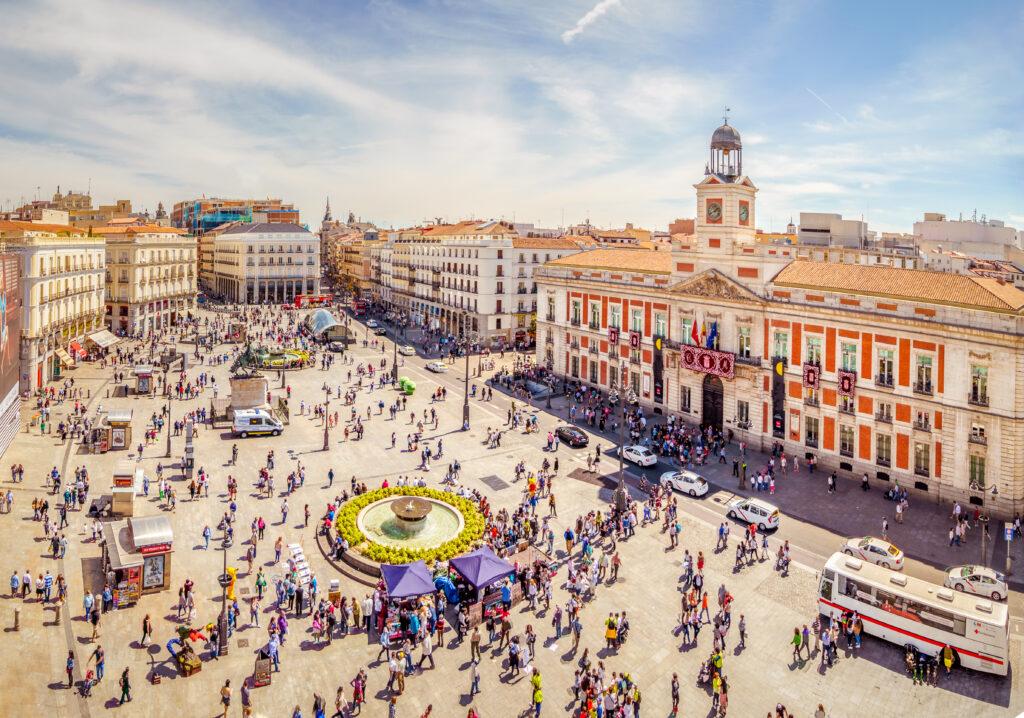 Puerta del Sol in Madrid, Spanje