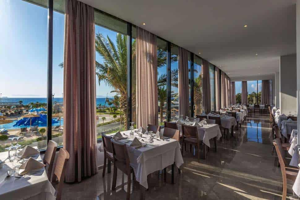 Restaurant van Akti Imperial Deluxe Spa & Resort in Ixiá, Rhodos, Griekenland