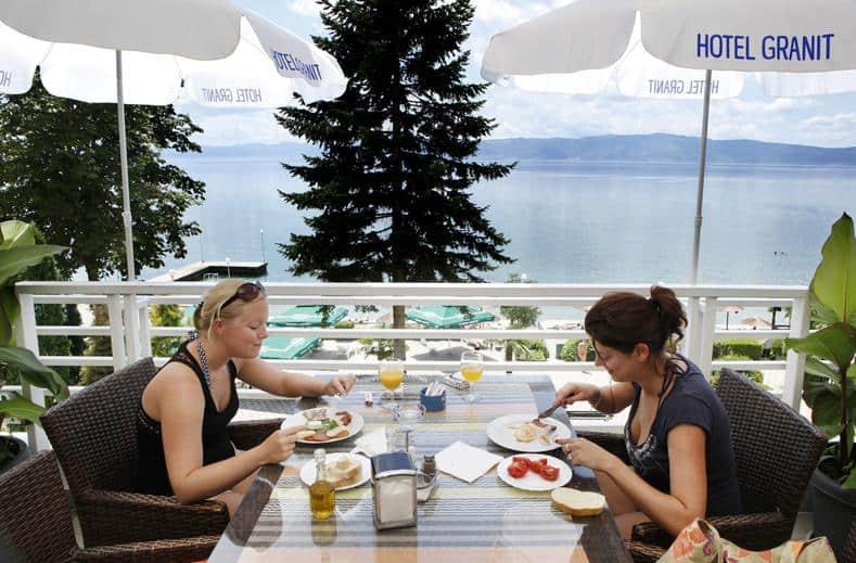 Restaurant van Hotel Granit in Ohrid, Ohrid, Macedonië