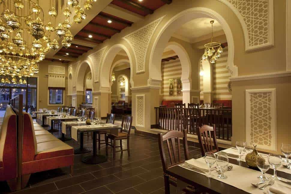 Restaurant van Jaz Aquamarine Resort in Hurghada, Rode Zee, Egypte