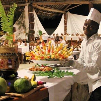 Restaurant van Paradise Beach Resort in Uroa, Zanzibar, Tanzania