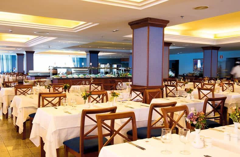 Restaurant van Riu Oliva Beach Resort in Corralejo, Fuerteventura, Spanje