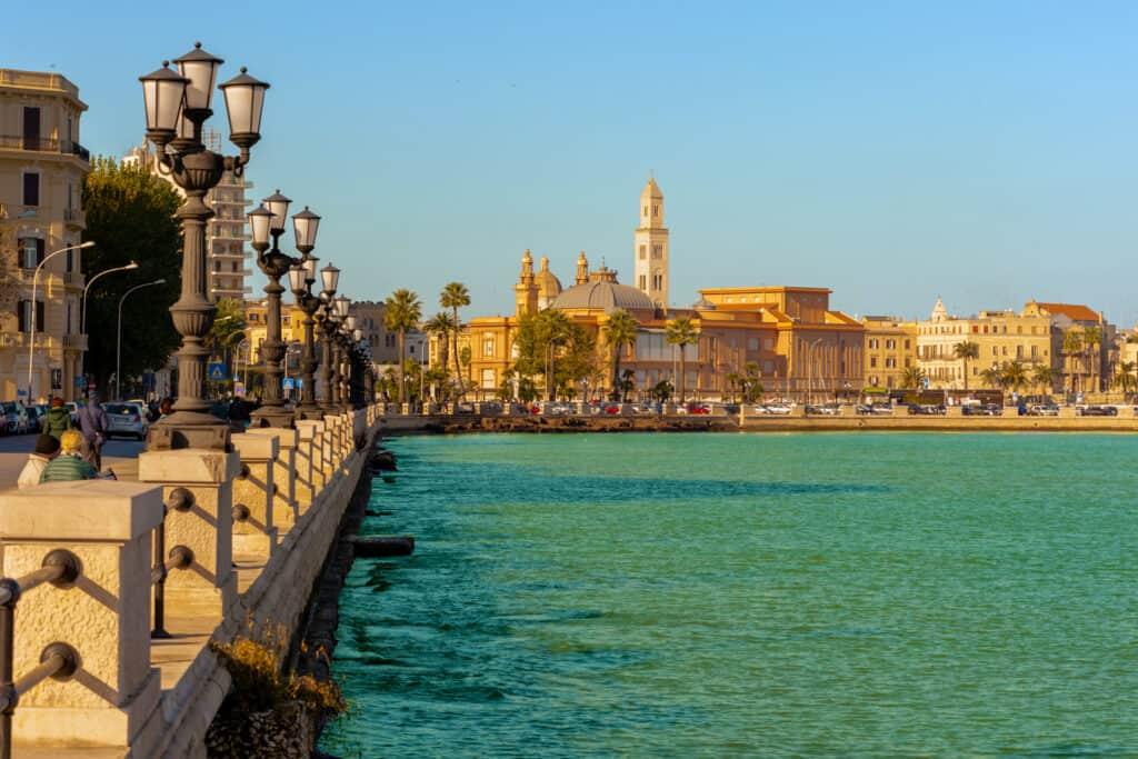 Uitzicht op Bari in Italië