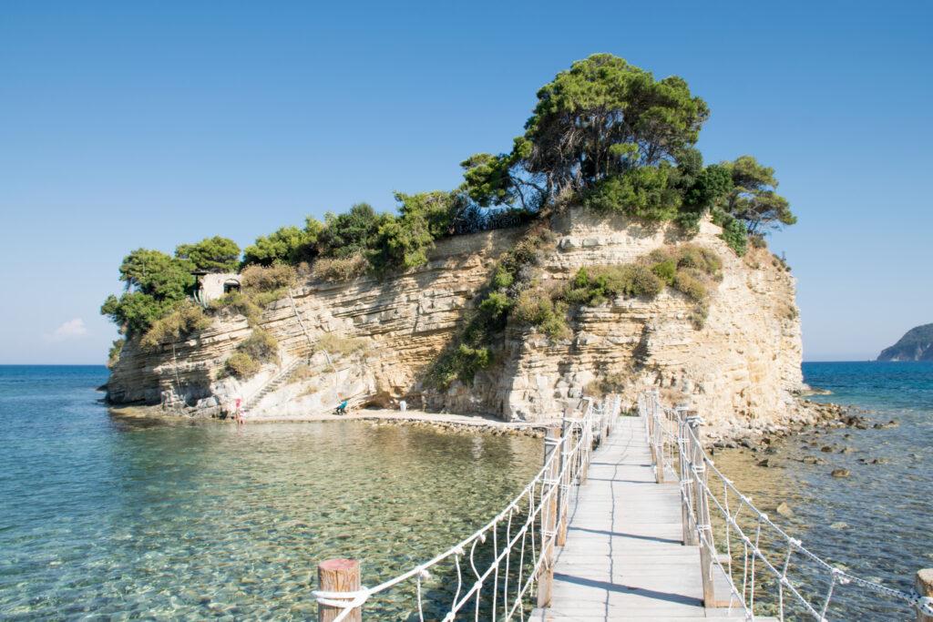 Uitzicht op een beroemd eiland bij Laganas op Zakynthos