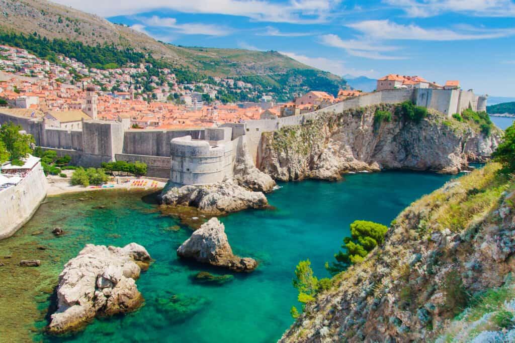 Uitzicht op Dubrovnik in Kroatië