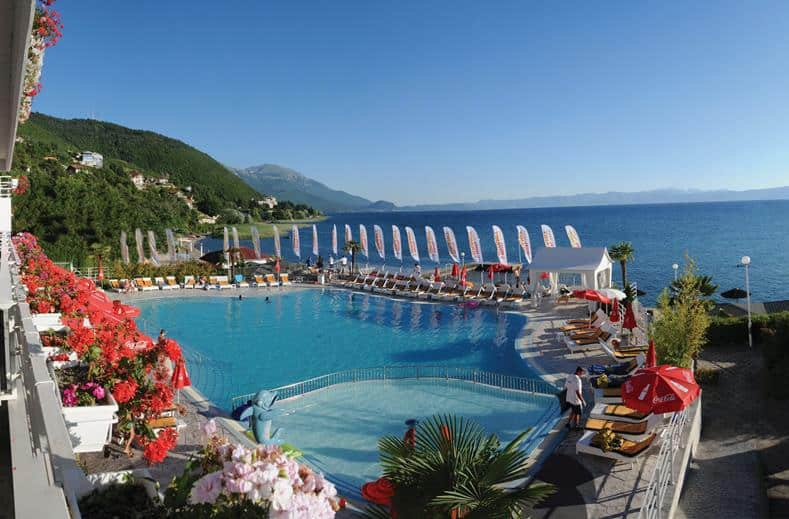Zwembad van Hotel Granit in Ohrid, Ohrid, Macedonië