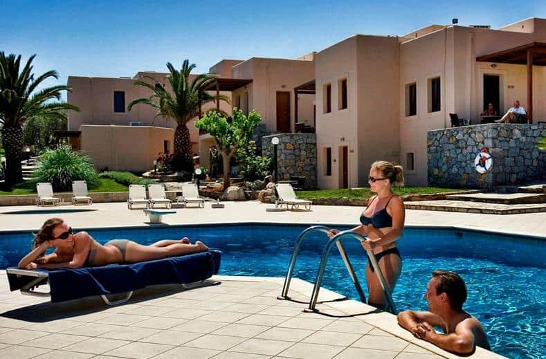 Zwembad van Ida Village I & II in Chersonissos, Kreta, Griekenland