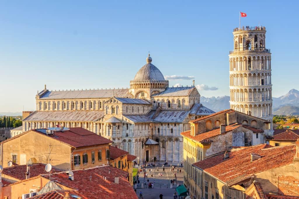 De Duomo en de toren van Pisa in Toscane, Italië