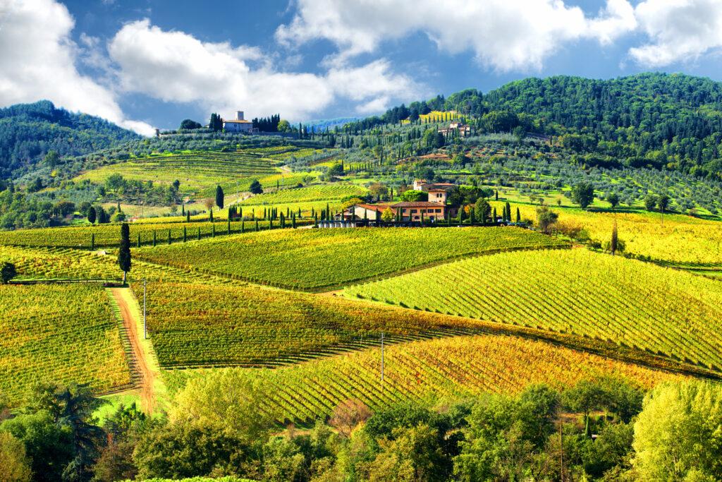 Toscaans landschap in de Chianti regio