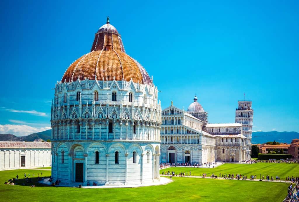 Baptisterium in Pisa, Italië