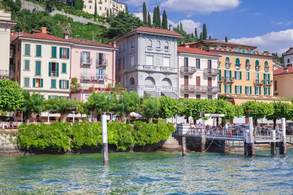 Bellagio aan het Comomeer in Italië
