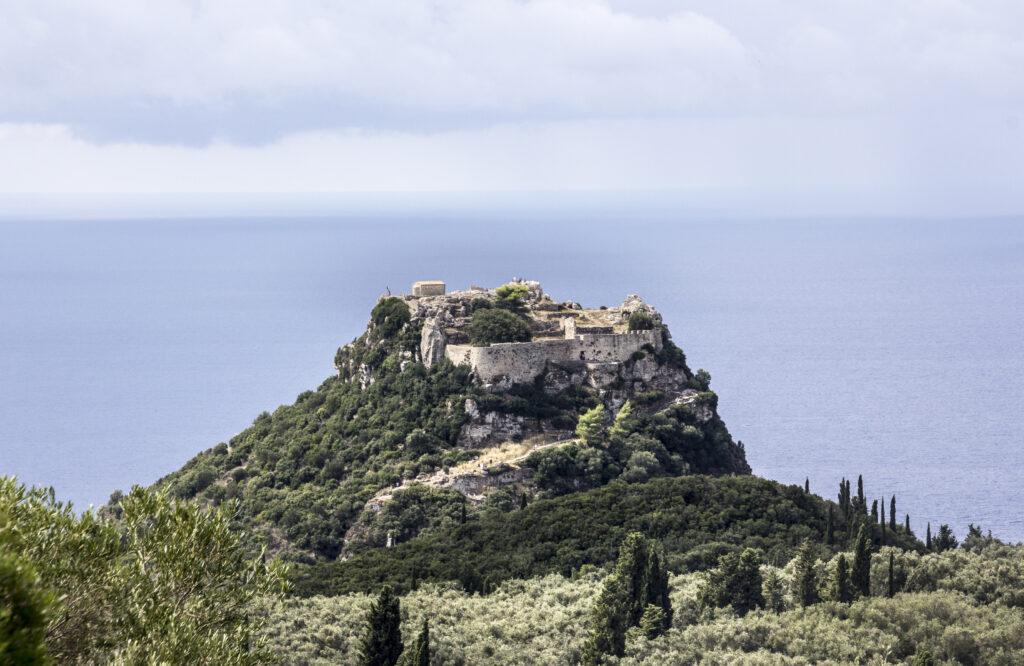Angelokastro fort op Corfu, Griekenland