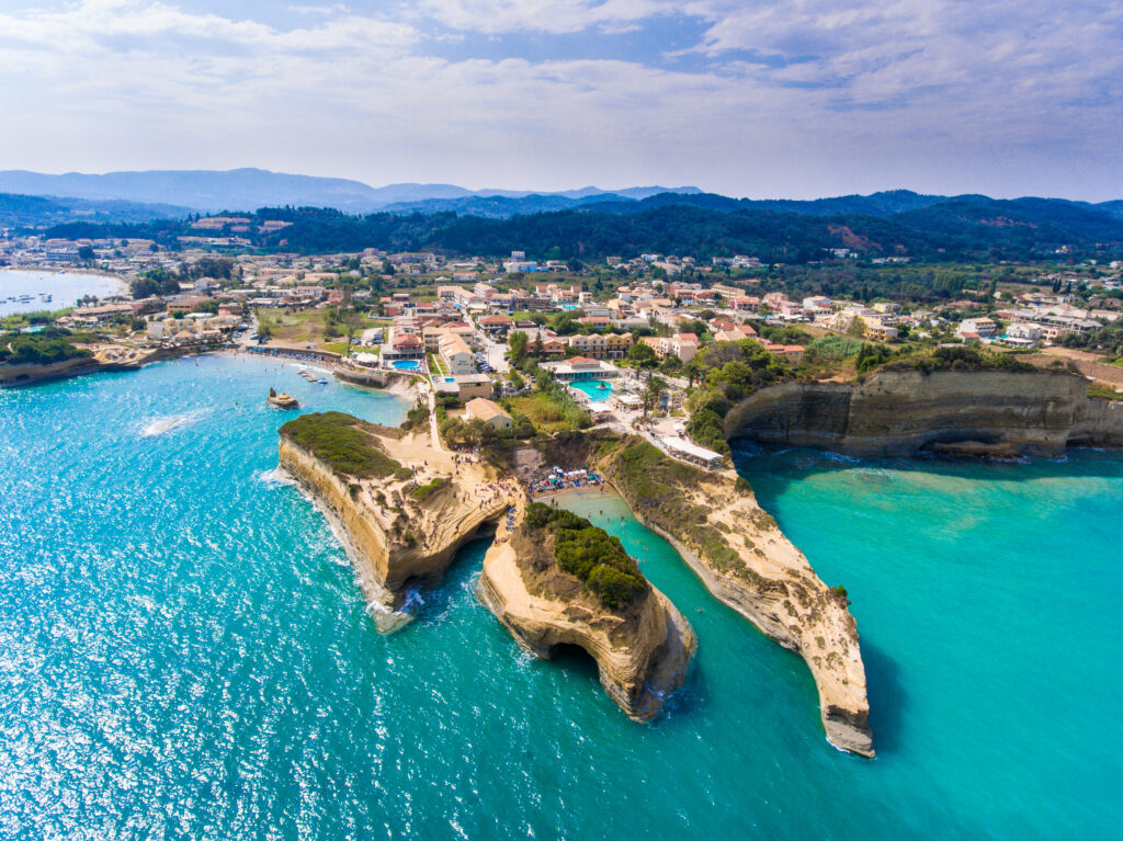 Canal D'Amour beach in Sidari op Corfu