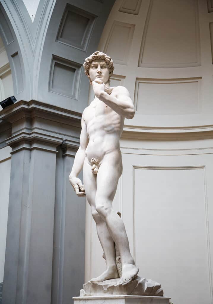 David in de galleria dell accademia in Florence