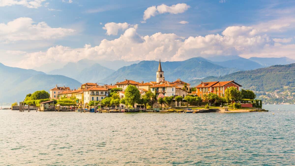 Eiland op het Lago Maggiore