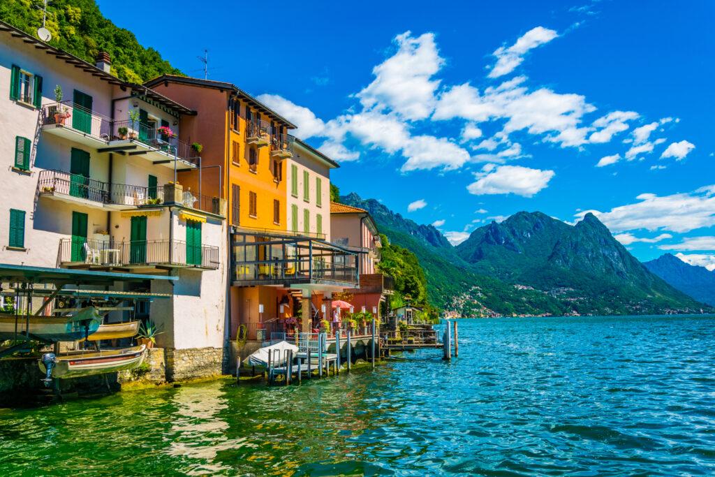 Gandria aan het meer van Lugano
