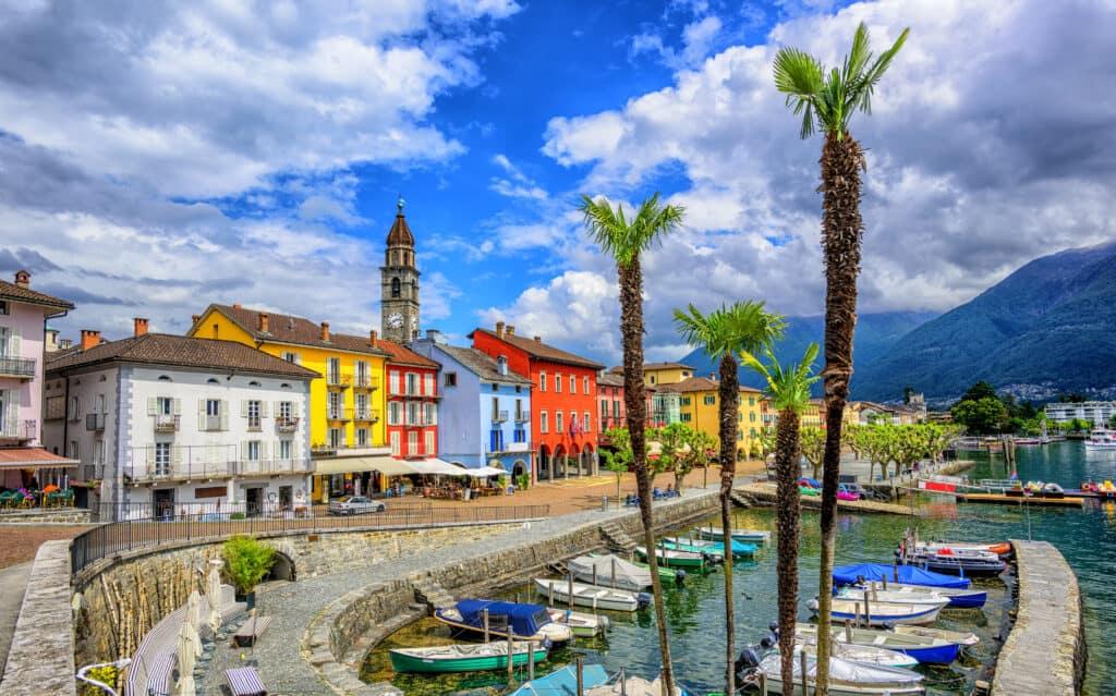 Haven van Locarno en Ascona in Zwitserland