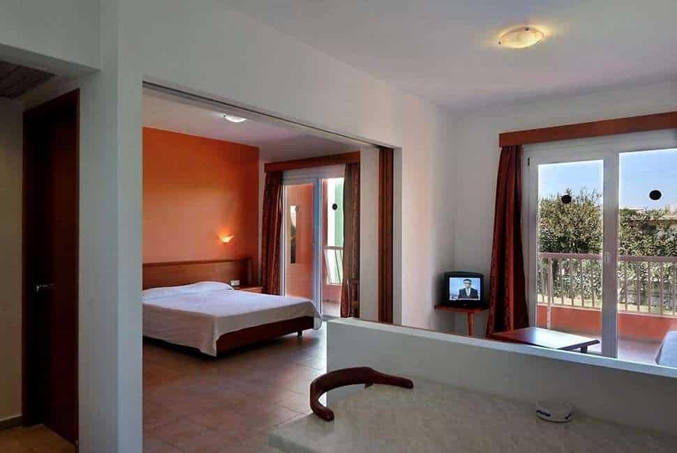 Hotelkamer van Aparthotel Valsami in Kremasti, Rhodos, Griekenland