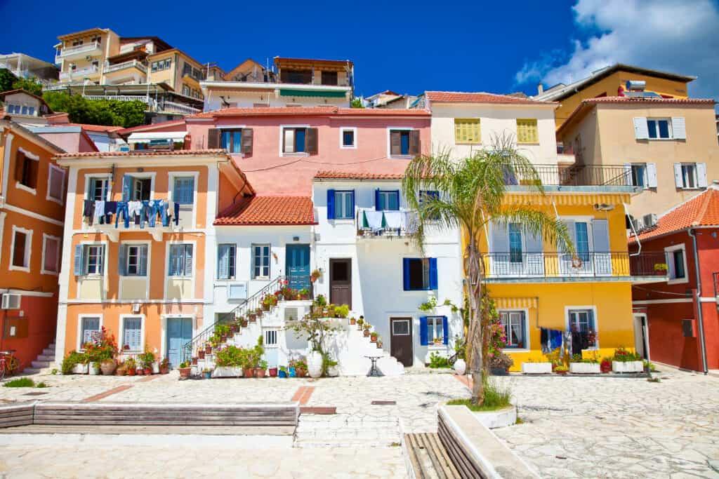 Huisjes in Parga, Griekenland