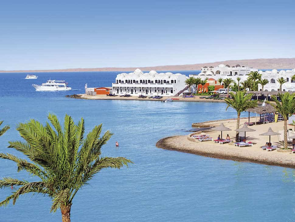 Ligging van Arabella Azur Resort in Hurghada, Rode Zee, Egypte