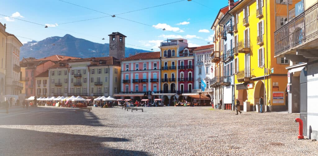 Stadsplein van Locarno in Zwitserland