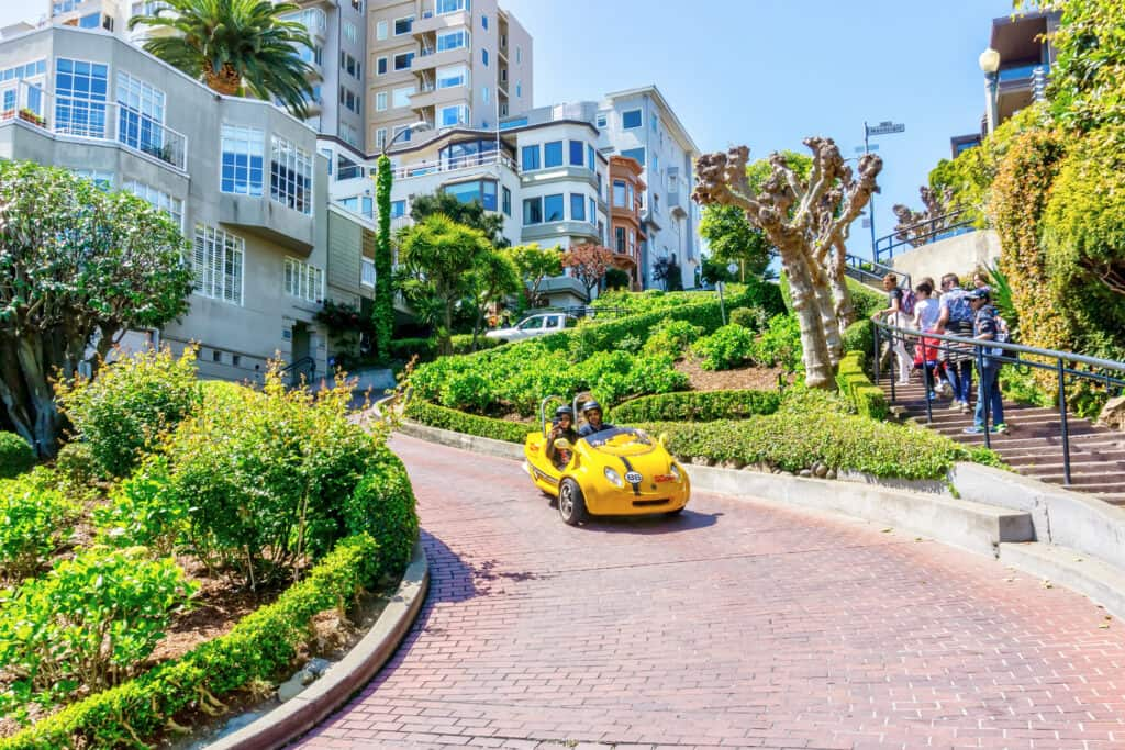 Lombard Street in San Francisco, Californië