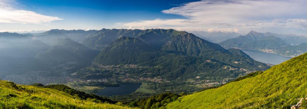 Uitzicht over de Monte Legnone