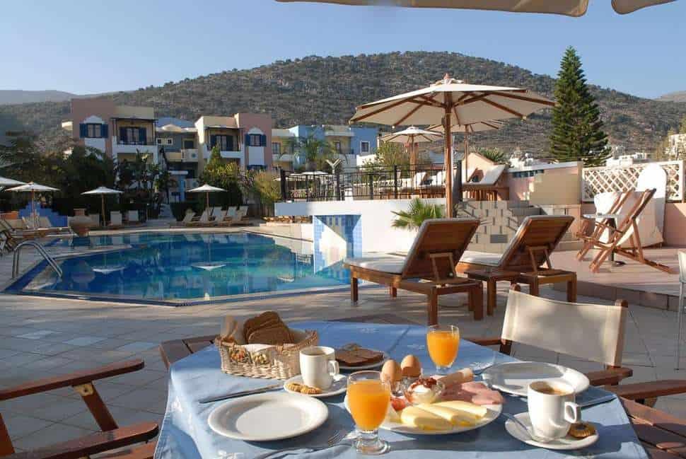 Ontbijt van Arlekin Tango in Malia, Kreta, Griekenland