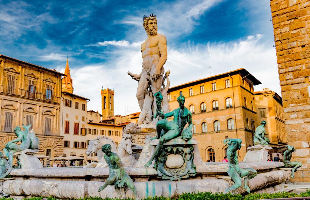piazza della signoria in Florence, Italië