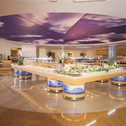 Restaurant van Blue Waters Club & Resort in Side, Turkse Rivièra, Turkije