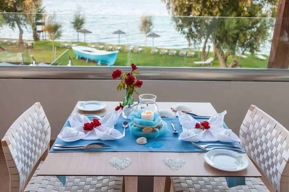 Restaurant van Oceanis Beach & Spa Resort in Psalidi, Kos, Griekenland