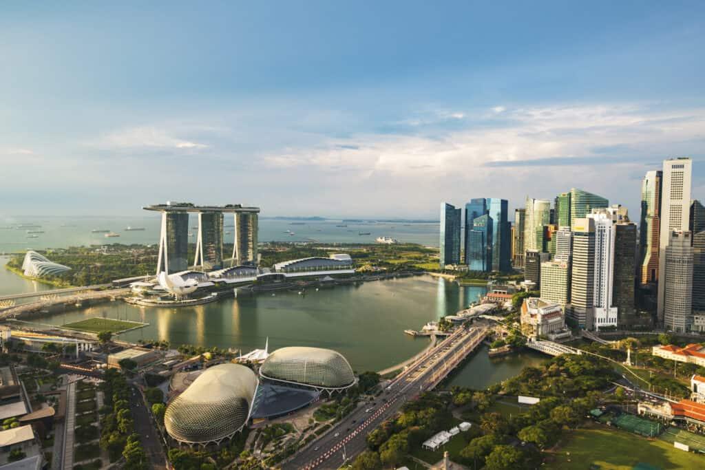 Uitzicht op Marina Bay in Singapore